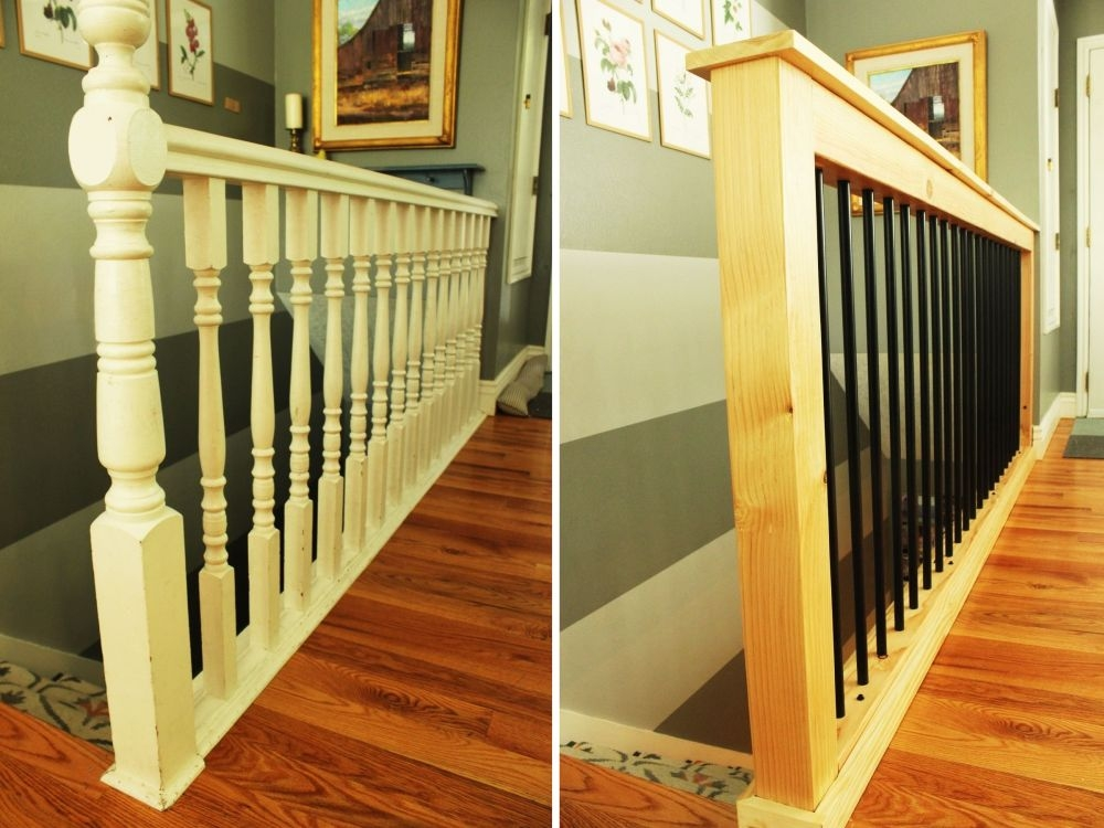 How To Give Your Old Stair Railings A Fresh New Look On A Small Budget | New Stair Railing Cost | Staircase Ideas | Glass Railing | Staircase Design | Stair Parts | Wooden Stairs