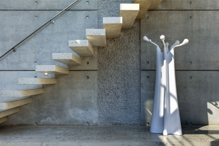 Modern Concrete Stairs Design Outdoor   Floating Concrete Steps Designs   House   Sidewalk   Front Door   Stair Railing   Backyard