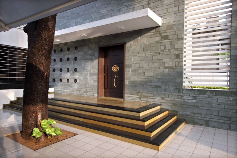 The Wall House By Dipen Gada Associates   Exterior Stairs Designs Of Indian Houses   Railing   Outdoor   Residential House   Metal   Modern