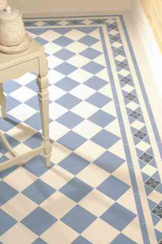 15 Inspiring Floor Tile Ideas For Your Living Room Home Decor  10 Blue and cream checkered floor tiles for your dinning room