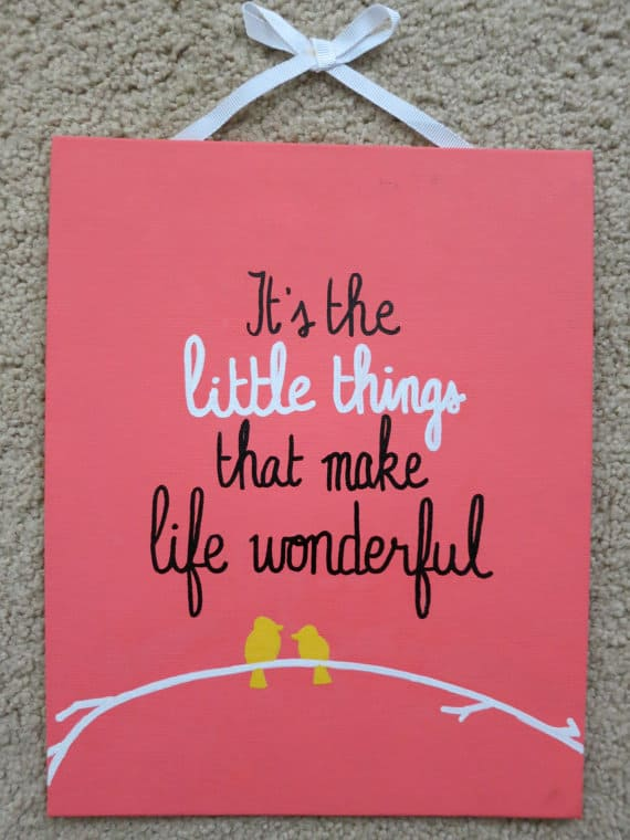 Cute Quote Canvas Painting Ideas