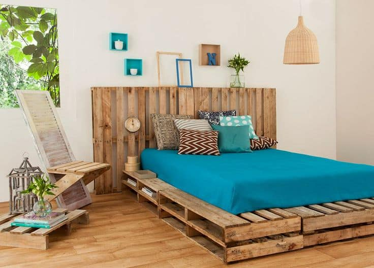 Top 62 Recycled Pallet Bed Frames Diy Pallet Collection