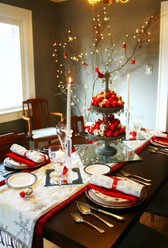 Decoration Ideas For Christmas Dinner Table Decorating