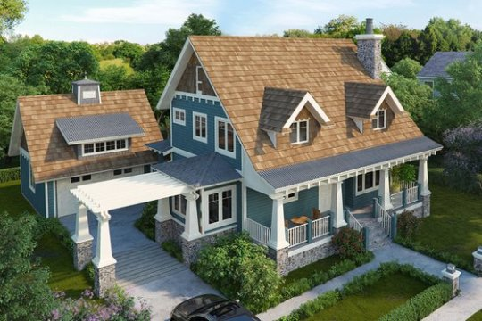 Style   HomePlans com Craftsman Home Plans