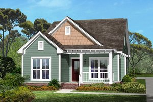 Narrow Lot House Plans from HomePlans com Plan