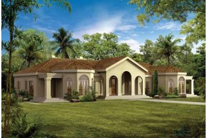Spanish House Plans from HomePlans com Plan