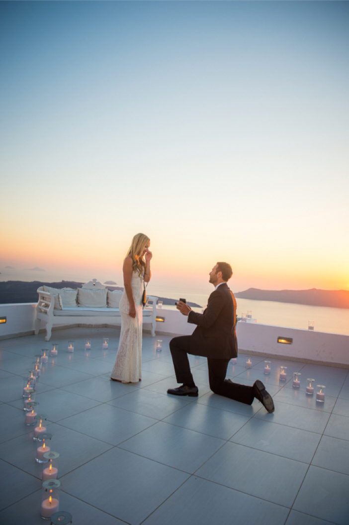 He Pulled Off an Elaborate Surprise Proposal in Greece Janelle and Ben s Incredible Proposal in Santorini 2