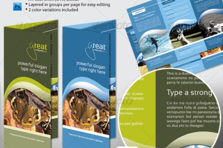 50 Business Brochure Templates   Template   iDesignow Generic A4 Tri Fold Brochure