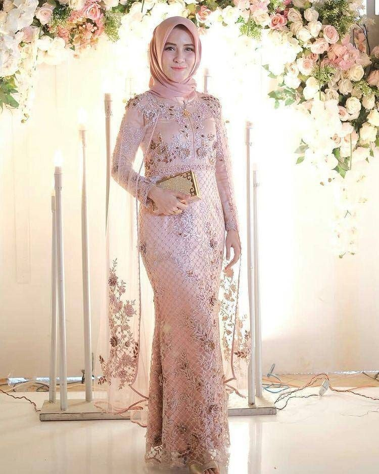 Model Dress Brokat Panjang Terbaru 10