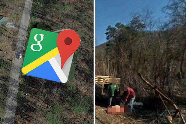 Google Maps  Dead body spotted on street view throws internet into a      Dead body  spotted on Google Maps  Tennessee