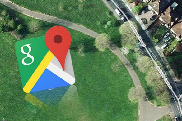 Google Maps street view users spot strange symbol in Brit park     Google Maps street view in Hove Park