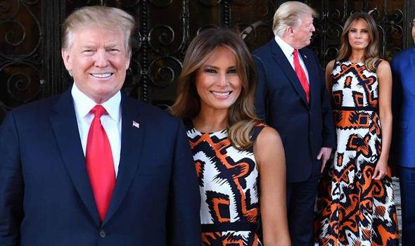 Melania Trump style stands out as she and Donald welcome ...