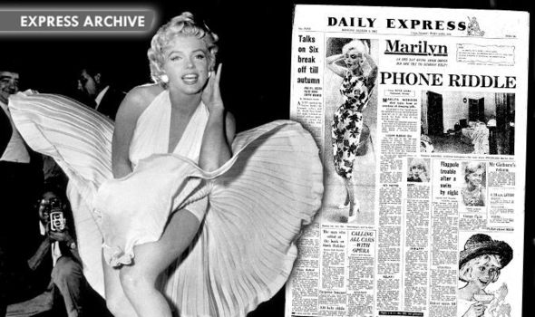 How the Daily Express reported the death of Marilyn Monroe ...