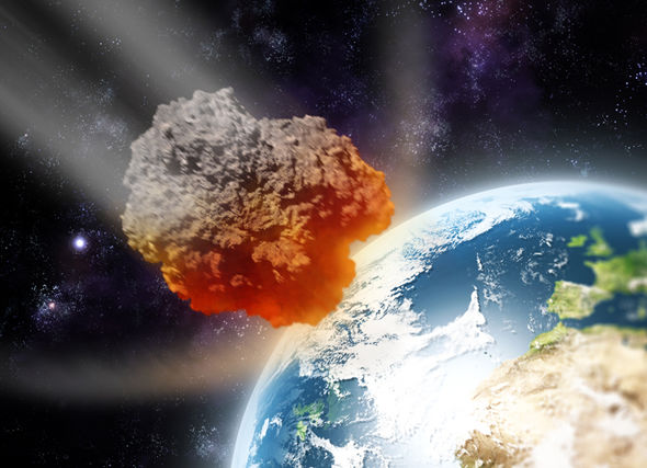 Earth Being Hit Meteor