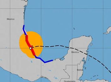HD Decor Images » Hurricane Franklin path update  Latest storm track  weather models     Weather map showing Hurricane Franklin
