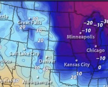 HD Decor Images » How cold is it in the USA right now  Weather map shows big freeze     cold weather map latest