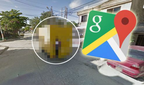 Google Maps street view captures schoolboy doing something VERY     google maps street view shock images schoolboy van