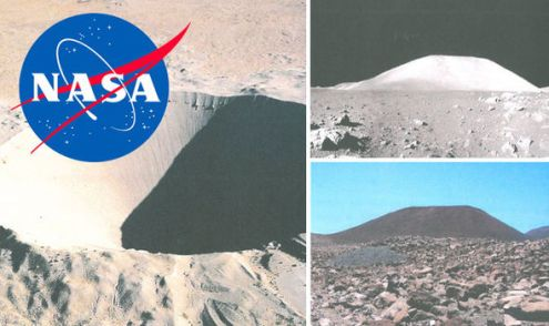 MOON HOAX PROVED  Is this where NASA filmed  fake lunar landings on     NASA David Bryant