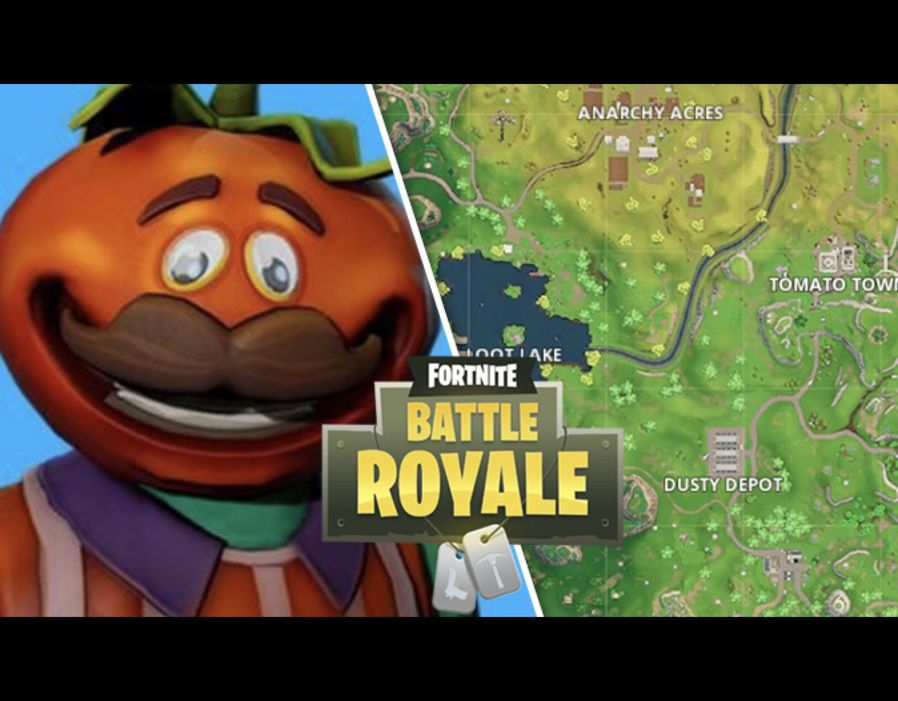 Fortnite season 4  How to solve Fortnite letters and Tomato Town     Tomato Town Treasure Map Fortnite Season 4 map location REVEALED  Play  slideshow  1 of 6