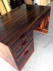 Coclobolo Desk By Don Shoemaker   Incollect Don Shoemaker Rare Cocobolo Wood Desk Don Shoemaker   81180