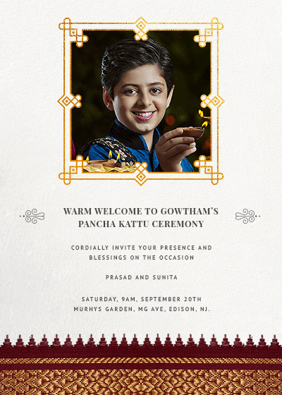 Baby Shower Invitations Indian