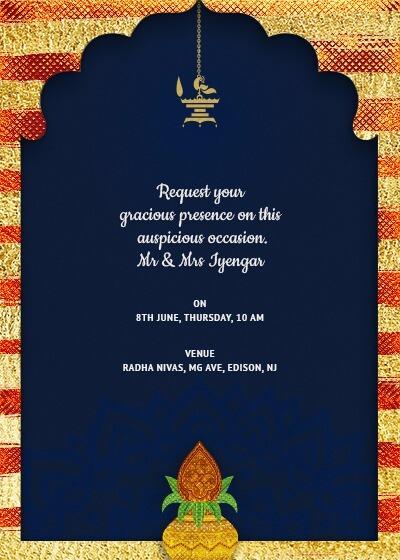Nikah Invitation Cards Template