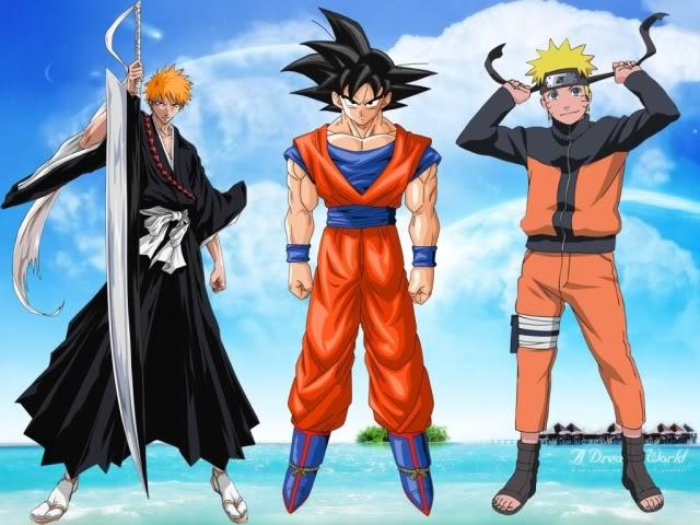 Kaneki Naruto Luffy Ichigo Goku Natsu
