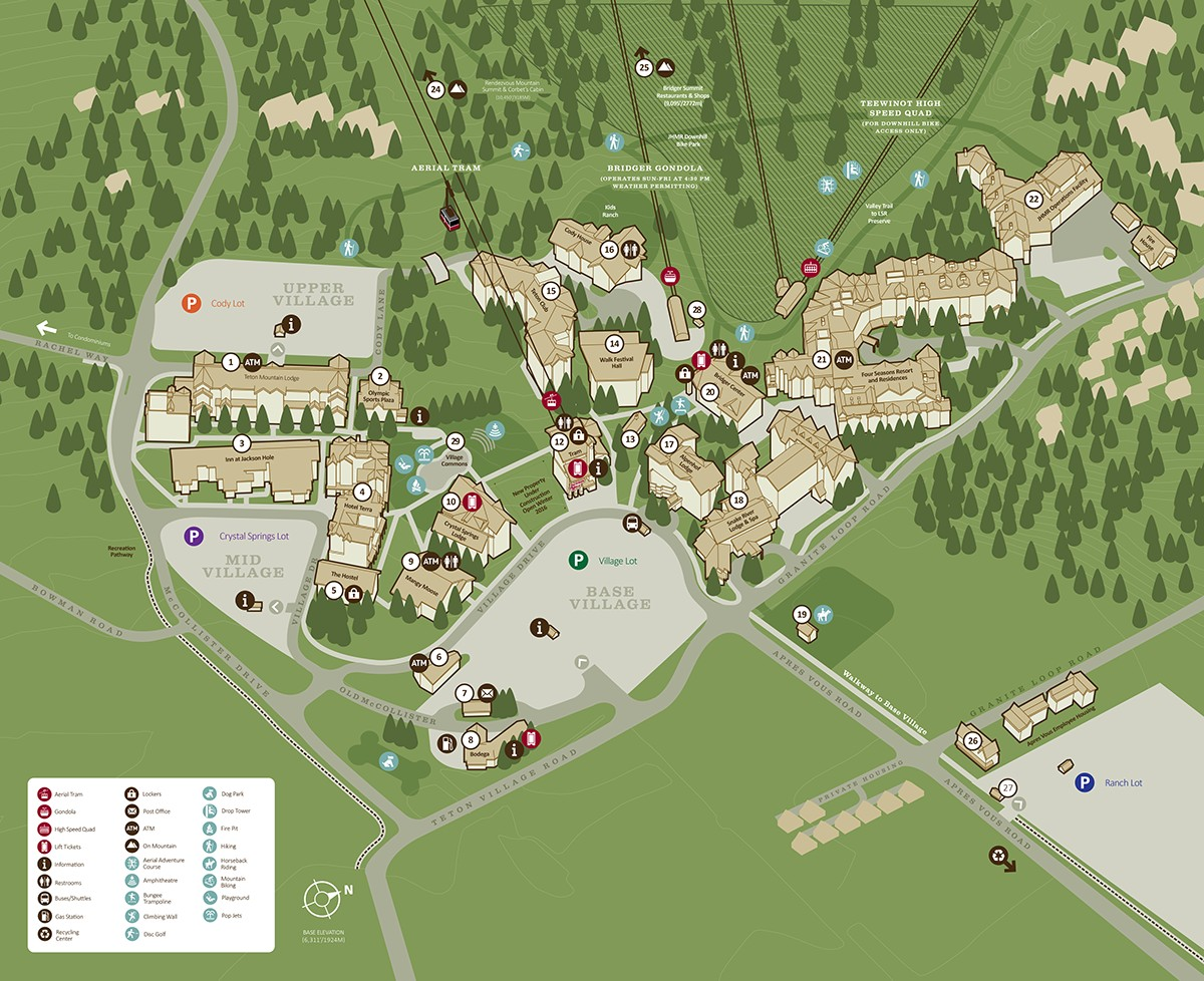 Jackson Hole Maps  Jackson Hole Central Reservations Teton Village Map