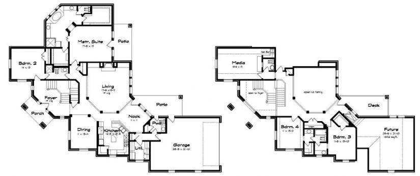Corner Lot Plan Unique Split Stairs House Plans Floor House | Stairs In House Plans | Residential | Upstairs Dream House | Grand Staircase | Sweeping Staircase House | Balcony