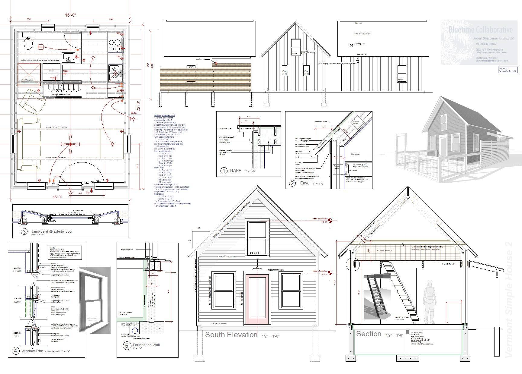 Tiny House Plan Sale Vermont Architect Robert Swinburne