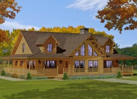 Custom Log Home Floor Plans   Katahdin Log Homes Bonanza