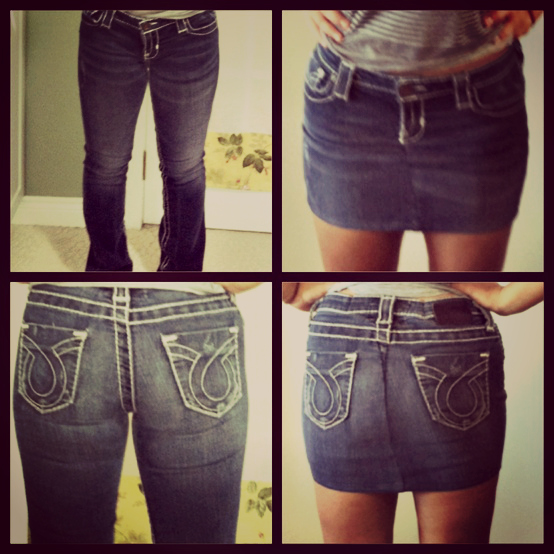 Ескі джинсы юбка