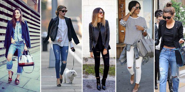 Hur man gör Ripped Jeans: Välj en bild