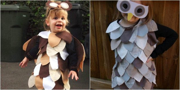 Mga costume sa DIY Christmas: Owl