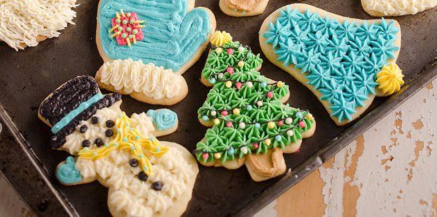 Cookie de Ano Novo com creme de leite