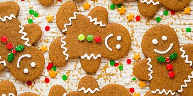 """Cookie de Ano Novo """"Ginger Men"""""""