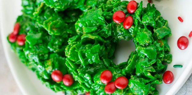 Cookies de grinalda de Natal