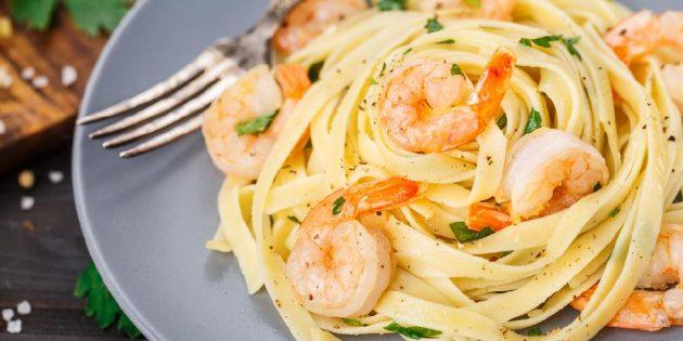 Асшаяндармен және ақ шараппен паста - рецепт