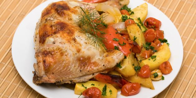 Peito de frango em maionese