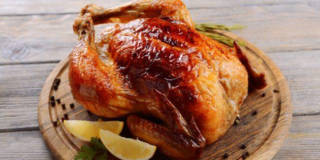 Manche de poulet entière au four