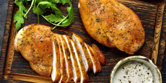 Poulet Heathy au four: Poitrine de poulet en mayonnaise