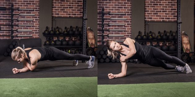 어깨에 운동 : 덤벨 배선이 차례로