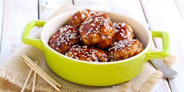 Kotlety z kurczaka z sosem teriyaki