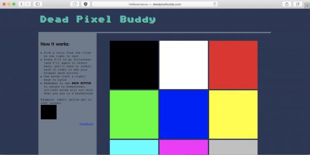 È possibile determinare visivamente l'assenza di pixel difettosi dopo un attento esame su uno sfondo bianco, nero, rosso, verde e blu a tinta unita.