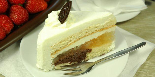Творожно-масляный крем со сгущёнкой для торта: рецепт