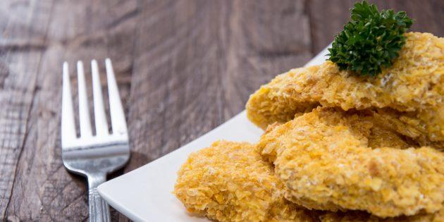 Pepite di pollo con cornflakes da jamie oliver