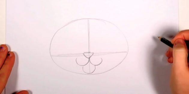 Желілердің қиылысында мұрынды үшбұрыш түрінде белгілеңіз