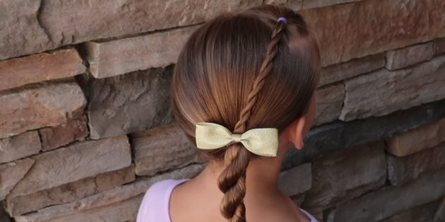 Hairstyles for girls: Low twisted tail