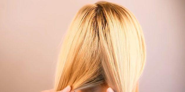 مو را در پایین به پایین تقسیم کنید