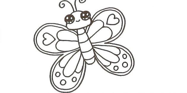 Trang trí cánh của bướm bên phải
